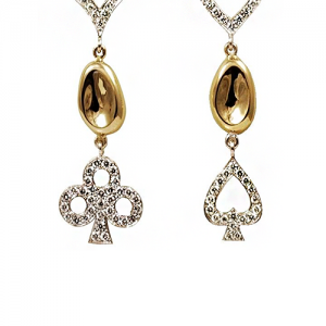 A pair of love earrings