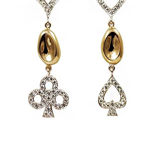 A pair of love earrings
