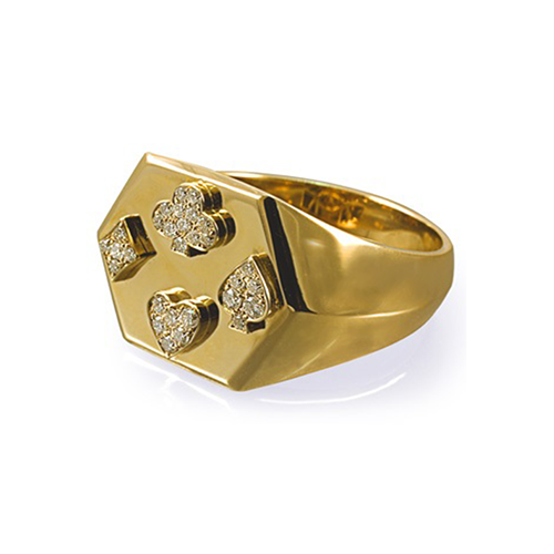 A POKER SIGNET RING_GOLD