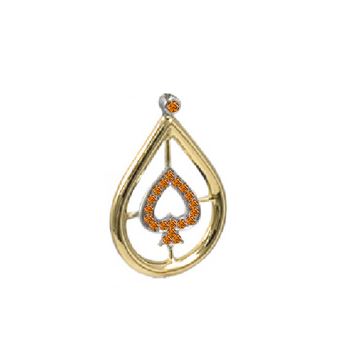 Ladies Earrings_orange